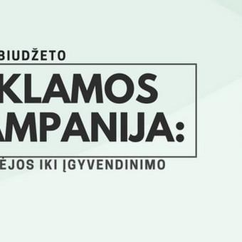 Reklamos komunikacija / Almas Rupšlaukis / Darbų pavyzdys ID 385973