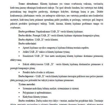 Pagalba, konsultacijos, plagiato tikrinimas / Vorso.lt / Darbų pavyzdys ID 386283
