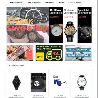 #1 Interneto svetainių, bei parduotuvių kūrimas,  SEO / Jonas Urbonas / Darbų pavyzdys ID 388833