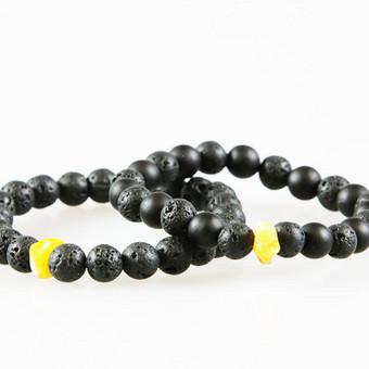 Rankų darbo pusbrangių akmenų apyrankės poroms, vyrams / Bull Style / Darbų pavyzdys ID 389325