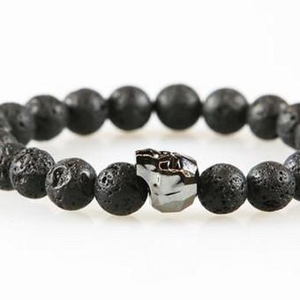 Rankų darbo pusbrangių akmenų apyrankės poroms, vyrams / Bull Style / Darbų pavyzdys ID 389331