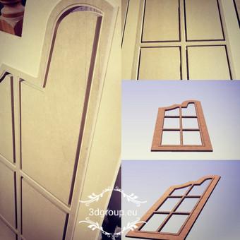 2D, 3D ir 4D frezavimas, 3D skenavimas / 3D Group EU, 3D Wood / Darbų pavyzdys ID 393093