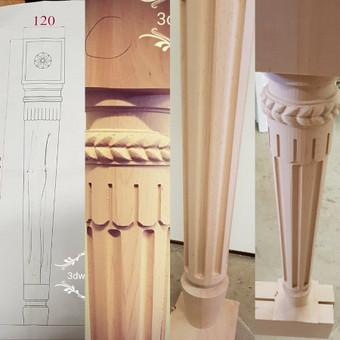 2D, 3D ir 4D frezavimas, 3D skenavimas / 3D Group EU, 3D Wood / Darbų pavyzdys ID 393097