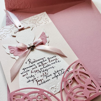 Vestuvių, krikštynų atvirukai, stalo kortelės, kvietimai / Rasa Lazdauskaitė / Darbų pavyzdys ID 394453