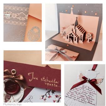 Vestuvių, krikštynų atvirukai, stalo kortelės, kvietimai / Rasa Lazdauskaitė / Darbų pavyzdys ID 394501