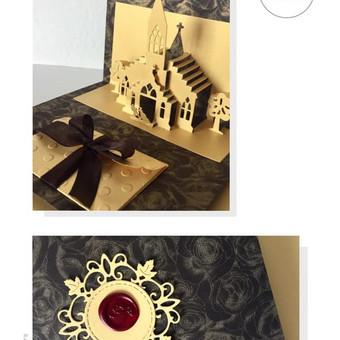 Vestuvių, krikštynų atvirukai, stalo kortelės, kvietimai / Rasa Lazdauskaitė / Darbų pavyzdys ID 394503