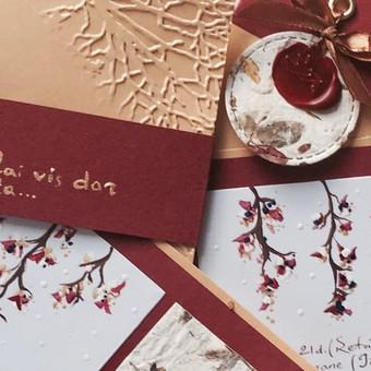Vestuvių, krikštynų atvirukai, stalo kortelės, kvietimai / Rasa Lazdauskaitė / Darbų pavyzdys ID 394545