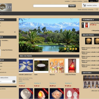 """Internetinė parduotuvė """"Atlas Art"""""""