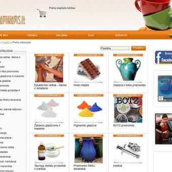 Elektroninė parduotuvė - atnaujinimo darbai, papildomų funkcijų diegimas
