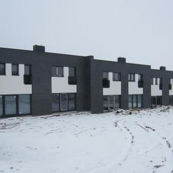 """Objektas – Trijų gyvenamųjų dvibučių namų statybos projektas Vėjo g. 22, Klaipėda  Autoriai – A. Jašinas (UAB """"Archko"""")"""