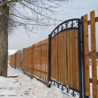 Tvoros, kiemo vartai, montavimas, kalvystės elementai. / UAB Metalo spektras / Darbų pavyzdys ID 397009