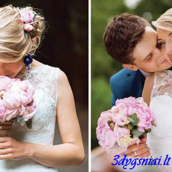 Vestuviniai išskirtiniai rankų darbo papuošalai & aksesuarai / 3dygsniai / Darbų pavyzdys ID 398793