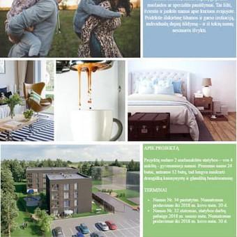 Nekilnojamojo turto projekto aprašymas, taip pat atskirtų butų aprašymai.