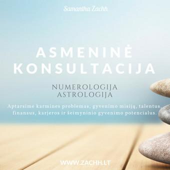Astrologinė numerologinė konsultacija / Samantha Zachh / Darbų pavyzdys ID 400501