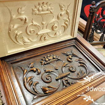 2D, 3D ir 4D frezavimas, 3D skenavimas / 3D Group EU, 3D Wood / Darbų pavyzdys ID 401855