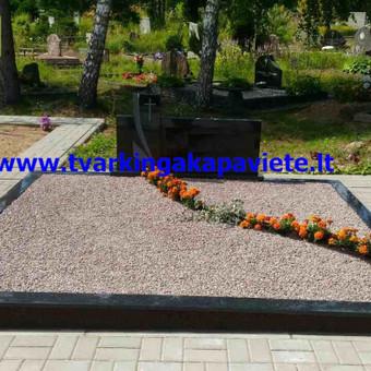 Paminklų, antkapių gamyba, kapų tvarkymo paslaugos / TVARKINGA KAPAVIETĖ / Darbų pavyzdys ID 401889