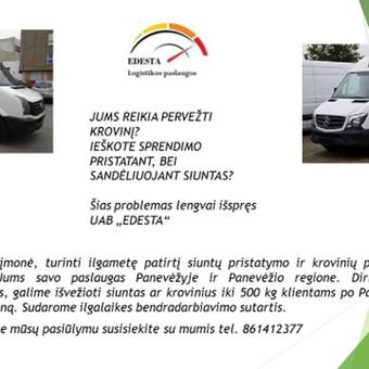Logistikos paslaugos Panevėžyje,krovinių pervežimas / UAB EDESTA / Darbų pavyzdys ID 402641