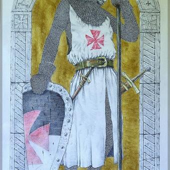 """""""Tamplierius"""", 40x70 cm, pieštukas, akrilas"""