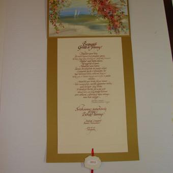 Prabangūs kaligrafiniai ranka piešti sveikinimai / Lidija Kukliene / Darbų pavyzdys ID 403879