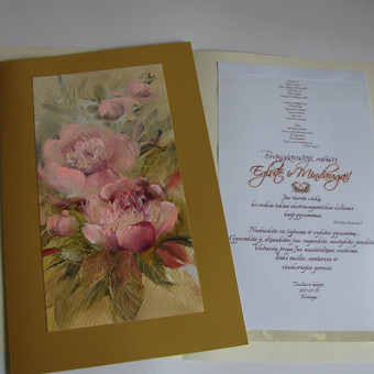 Prabangūs kaligrafiniai ranka piešti sveikinimai / Lidija Kukliene / Darbų pavyzdys ID 403885