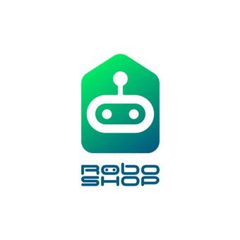 RoboShop - robotikos specialistai. logotipas el. parduotuvei   |   Logotipų kūrimas - www.glogo.eu - logo creation.