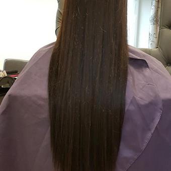 Priklauso nuo plauku ilgio, storio