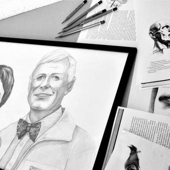 Realistiniai portretai - remiantis akademinio piešimo principais ir taisyklėmis.