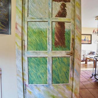 Interjero dekoravimas, durys, aliejus