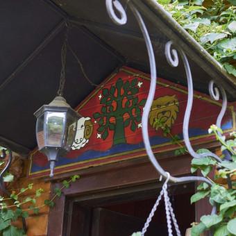 Eksterjero dekoravimas, stogelis, aliejus, medis
