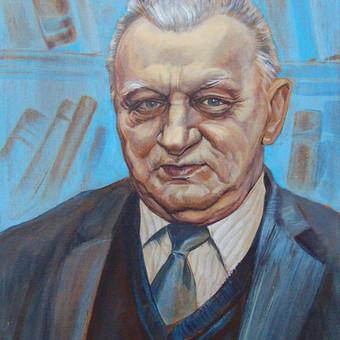 Portretas, nutapytas iš nuotaukos. Drobė, akrilas, 42x30 cm.