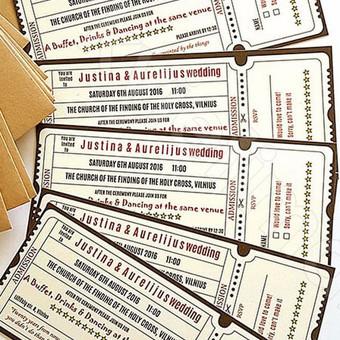 kvietimai - bilietai