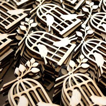 medinės detalės dekorui, stalo puošimui