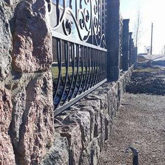 Akmens mūro darbai, Šlaitų ir pakrančių tvirtinimas.Atramine / Saulius / Darbų pavyzdys ID 410209