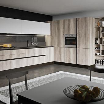 """Virtuvės baldai. Vonios baldai. Akmuo. UAB """"Forestė"""" / Dizainerė Audronė Baldai-Interjeras / Darbų pavyzdys ID 411389"""