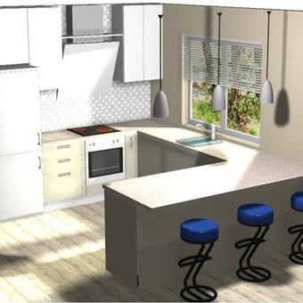 """Virtuvės baldai. Vonios baldai. Akmuo. UAB """"Forestė"""" / Dizainerė Audronė Baldai-Interjeras / Darbų pavyzdys ID 411397"""