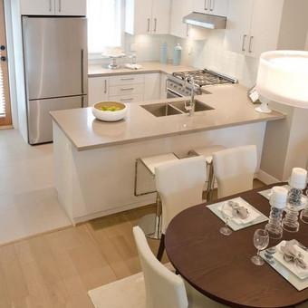 virtuvės sprendimai bendroje erdvėje
