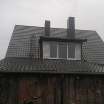 Karkasiniu namu statyba remontas  renovavimas Stogu dengimas / ovidijus / Darbų pavyzdys ID 413265
