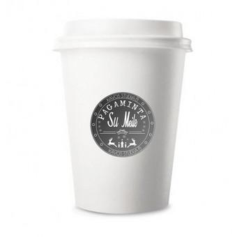 Lipdukas ant kavos puodelio