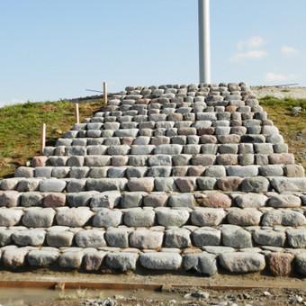 Riedulio laiptai Tauragė.akmenų klojimas