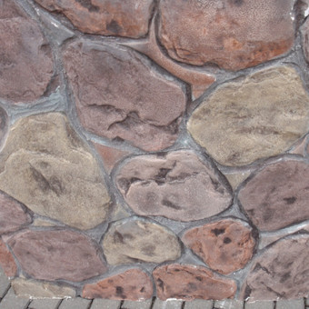 Įvairios betono dekoro galimybės.