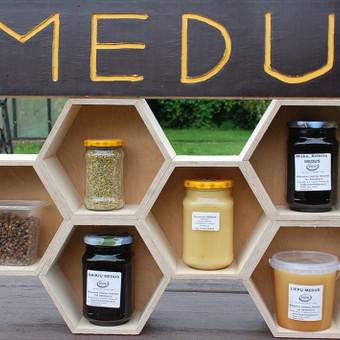 Medus, kokybes sertifikatas, Stiklainiuose po 1Kg - 6€ Misko avieciu, Grikiu, Pieniu-sodu