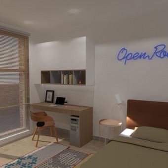 Vaiko kambario 3D vizualizacija. Įgyvendinamas projektas Užupyje.