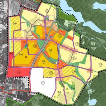 Teritorijos buvusiame Didžiųjų Gulbinų kaime vystymo koncepcija parengta 2007 bendraautoriai:  M.Pakalnis, A.Alūzienė, V.Valeika, R.Stupak, R.Kazickas