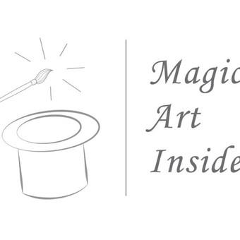 Logotipas meno kūrinių prekybai.
