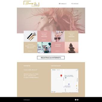 Sukurta internetinė svetainė grožio salonui. Taip pat sukurtas ir intergruotas registracijos modulis, vizitui pas norimą specialistą.