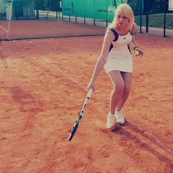 Grupinės moterų lauko teniso treniruotės Vilniuje / Juste Kubiliute / Darbų pavyzdys ID 425295