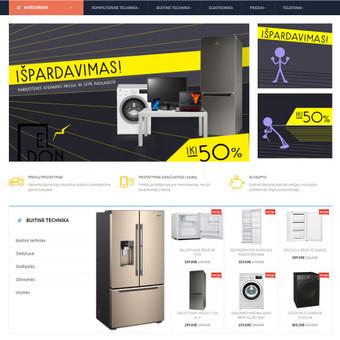 Internetinių svetainių | El-parduotuvių kūrimas Jūsų mieste / Jonas Urbonas / Darbų pavyzdys ID 427495
