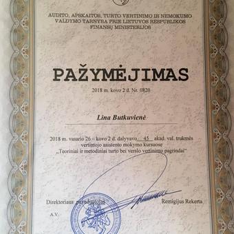 Sertifikuoti Nekilnojamojo turto agentai / Lina Butkuvienė / Darbų pavyzdys ID 428315
