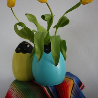 velykiniai kiausiniai-vazos