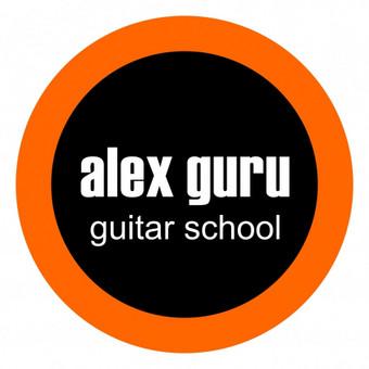 "Logotipas/Logo  ""Alex Guru Guitar School"" mokyklos"